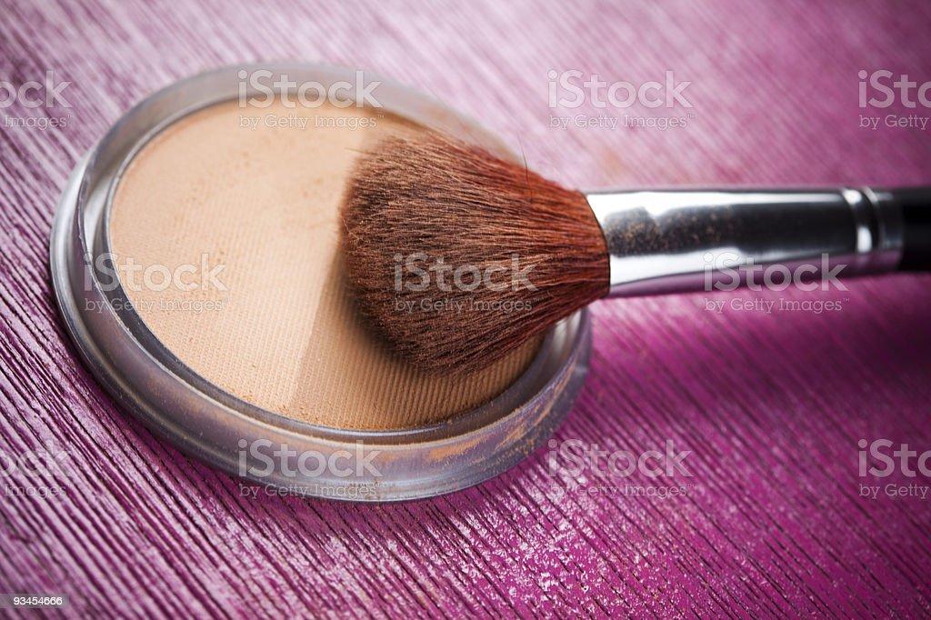 Powder auf Rosa Hintergrund Lizenzfreies stock-foto