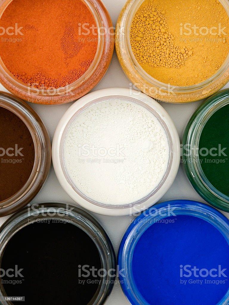Powder pigments royalty-free stock photo