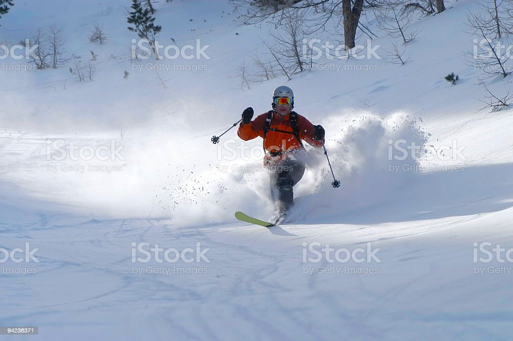 Powder Ski day stock photo