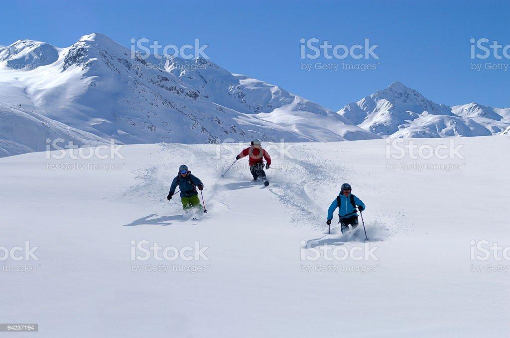 Powder Ski day royalty-free stock photo
