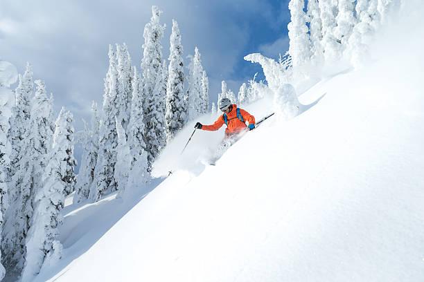 Skifahren im Pulverschnee  – Foto