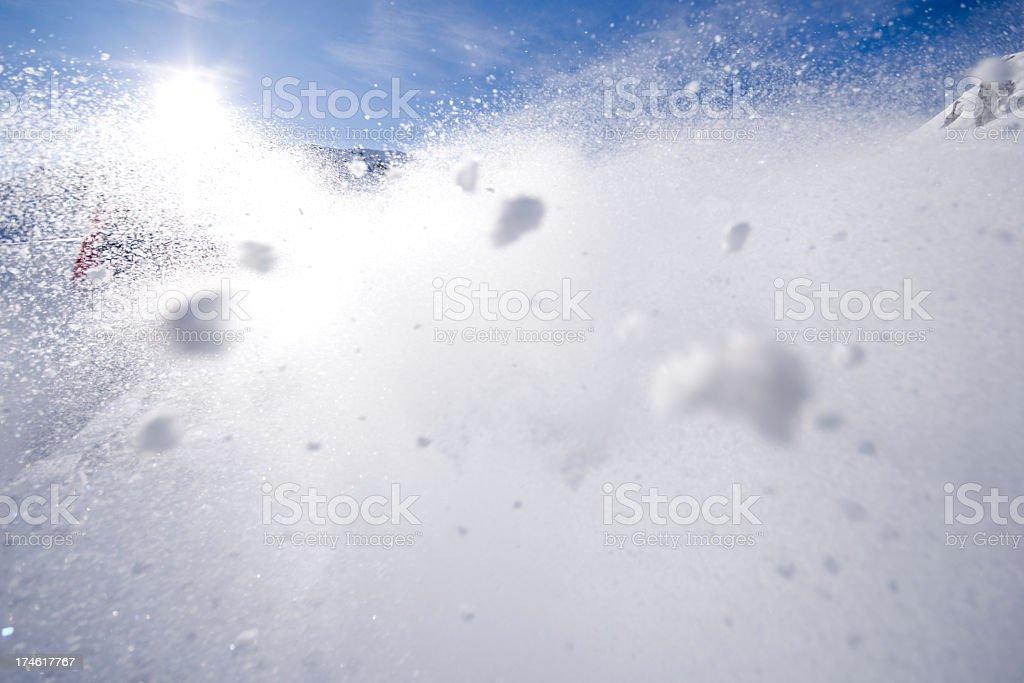 Powder Snow Spray royalty-free stock photo