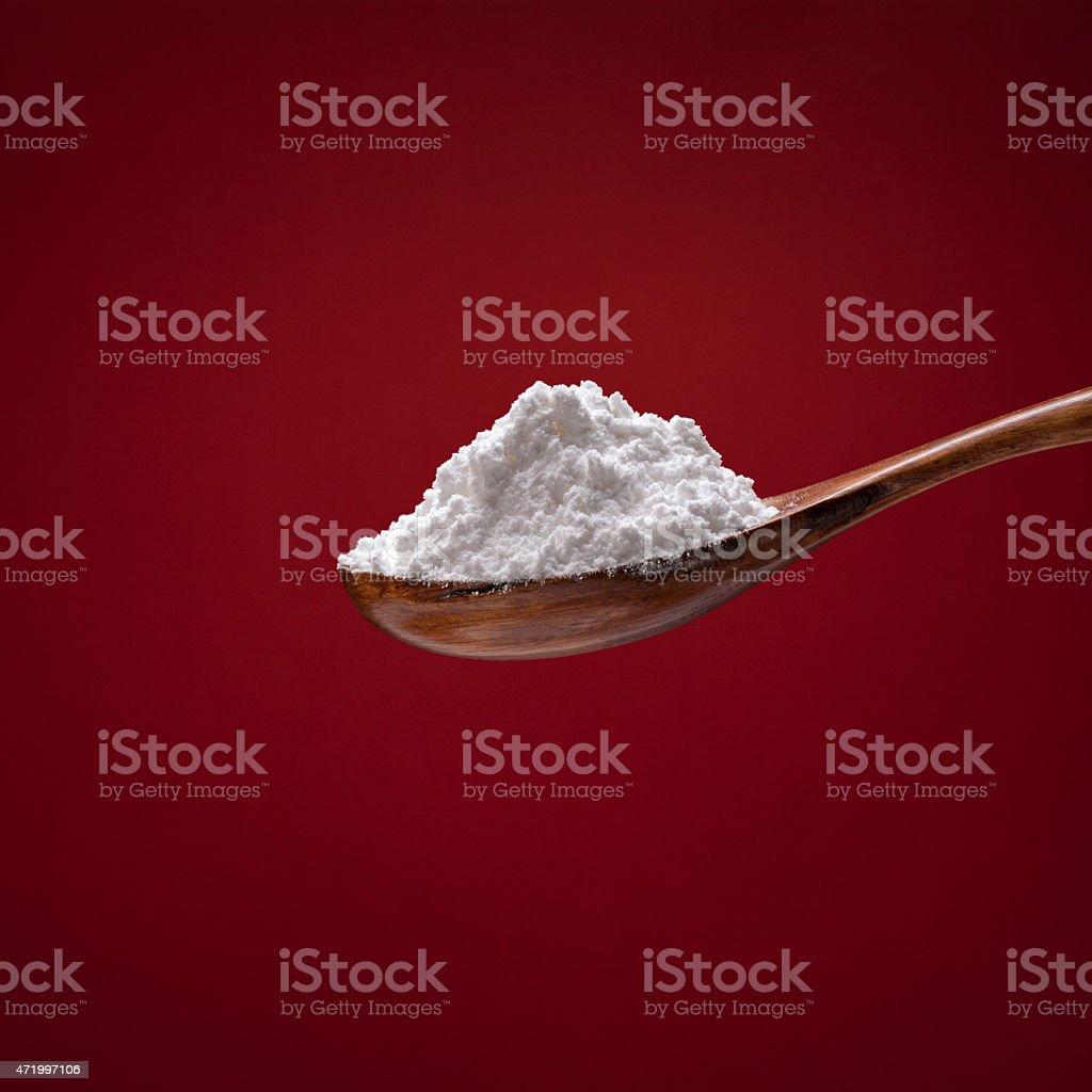 Powder sugar stock photo