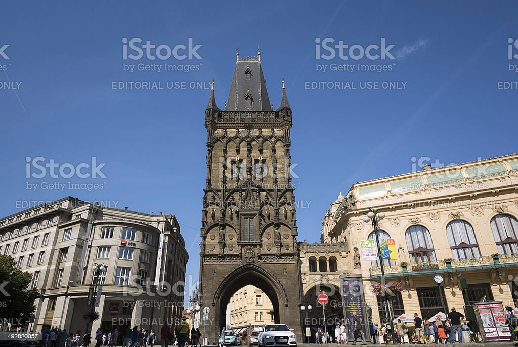 Powder Tower in Prague, Czech Republic stock photo