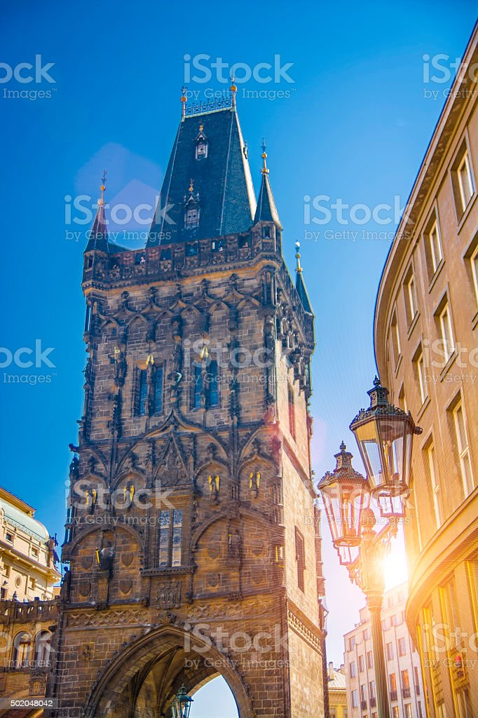 Powder Tower in Prague Old Town stock photo