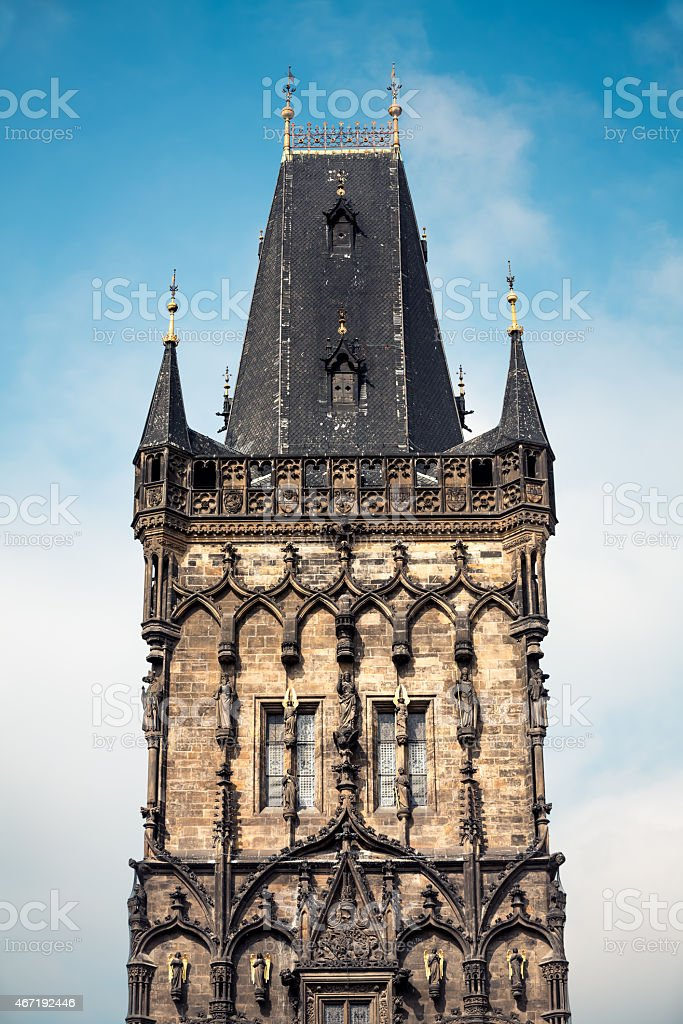 Powder Tower In Prague stock photo