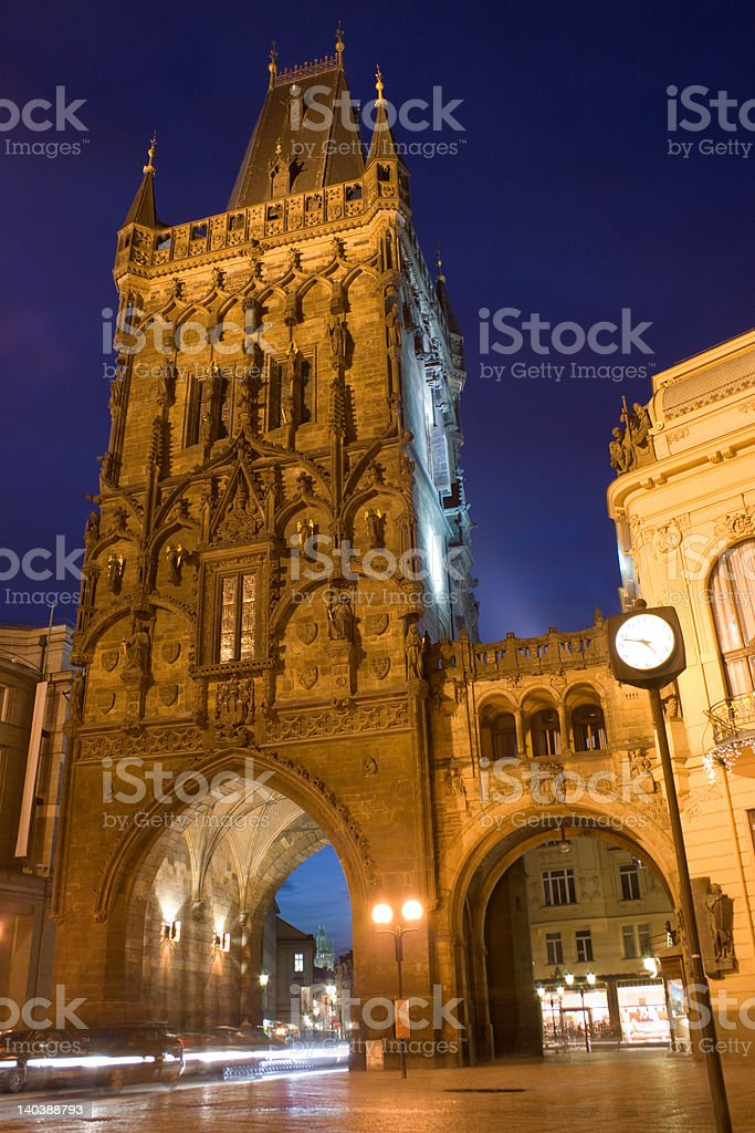 Powder tower stock photo