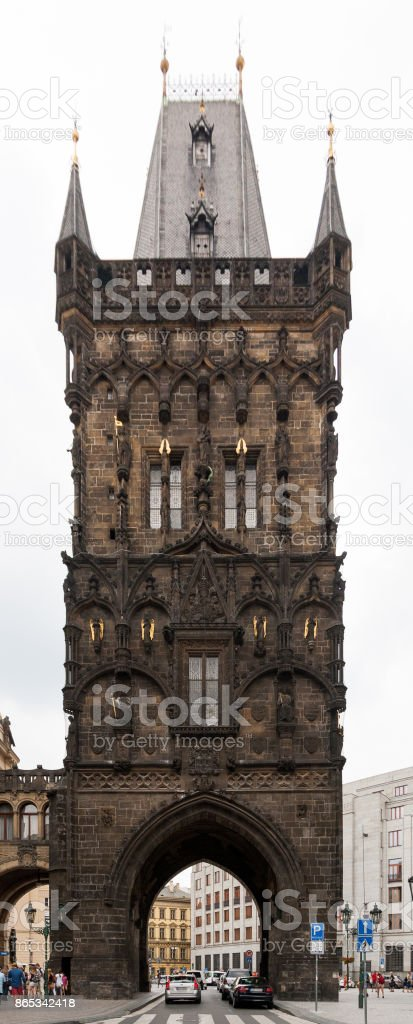 Powder Tower, Prague, Czech Republic stock photo
