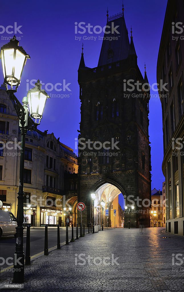 Powder Tower, Prague stock photo