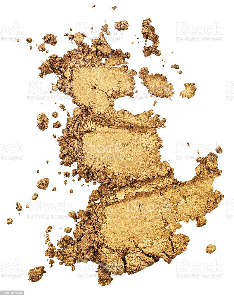 Powdered bronze eyeshadow isolated on white stock photo