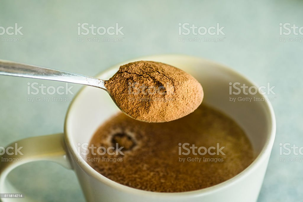 Powdered cocoa stock photo