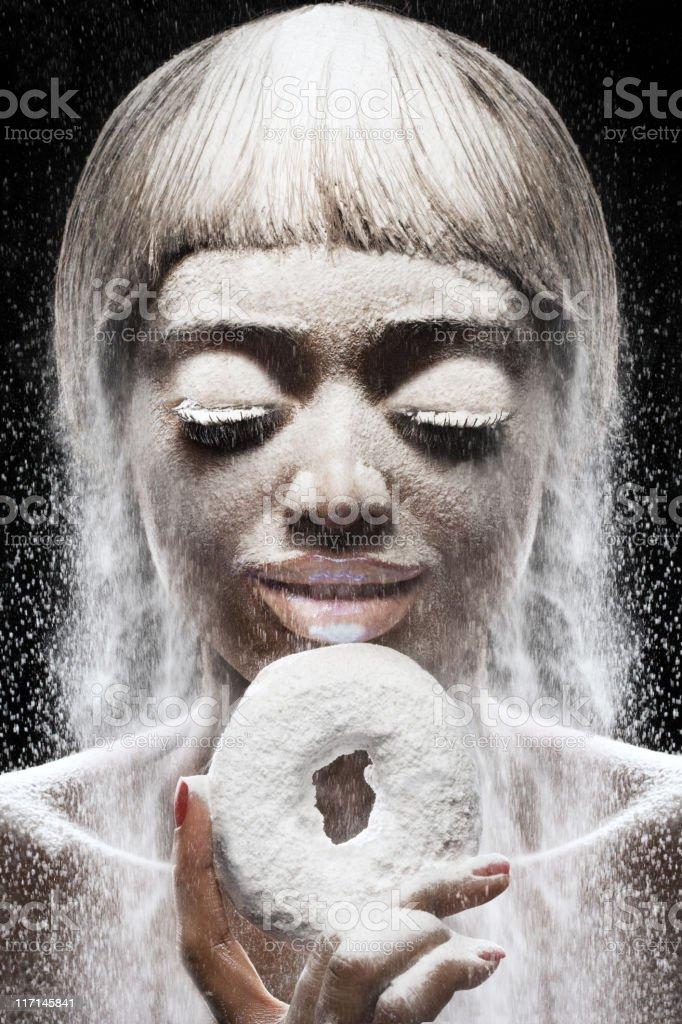 powdered doughnut fantasy royalty-free stock photo