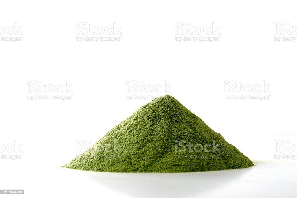 Powdered green juice - foto de acervo