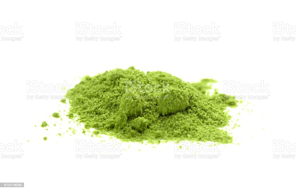 powdered green tea Matcha stock photo