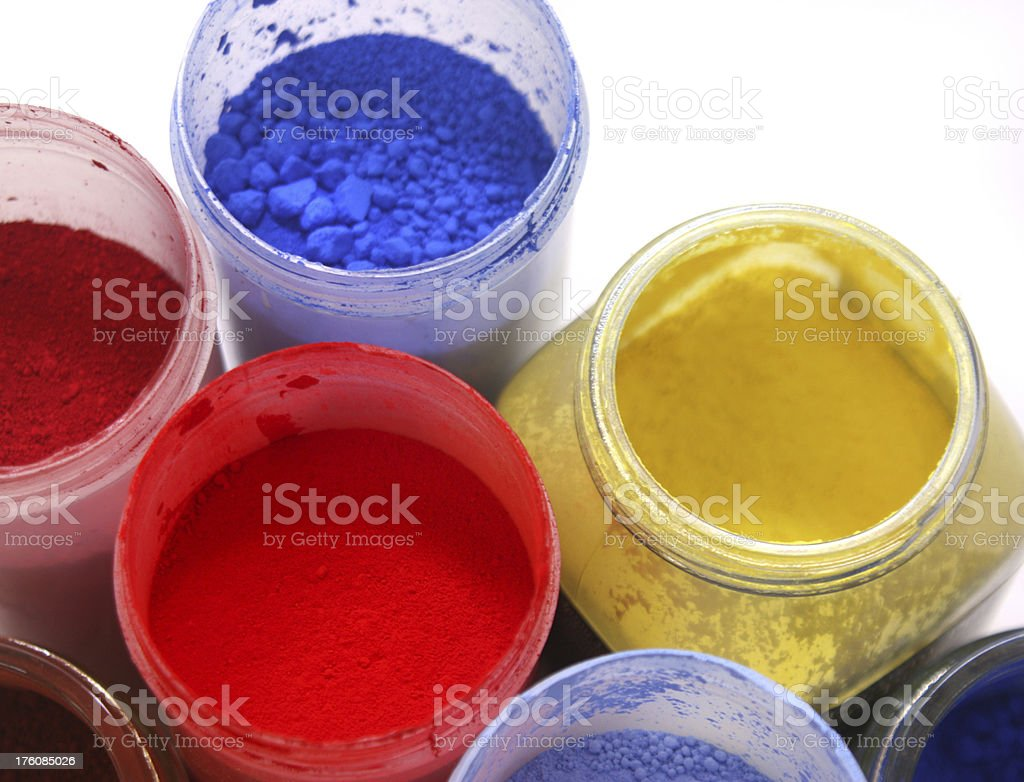 Powdered Paint pigments royalty-free stock photo
