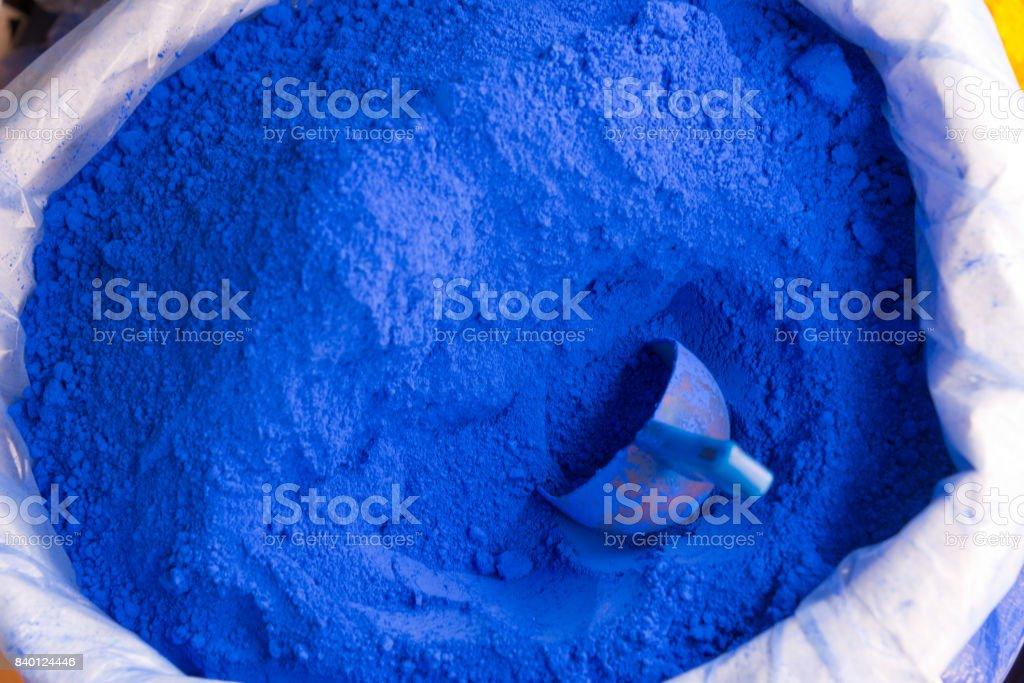 powdered pigments in sacks - foto stock