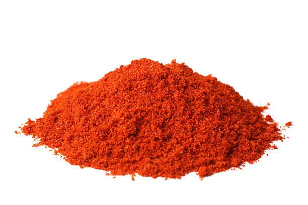 powdered red pepper - paprikapoeder stockfoto's en -beelden