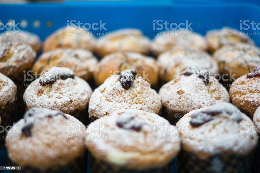 Puderzucker Muffins mit Jam – Foto