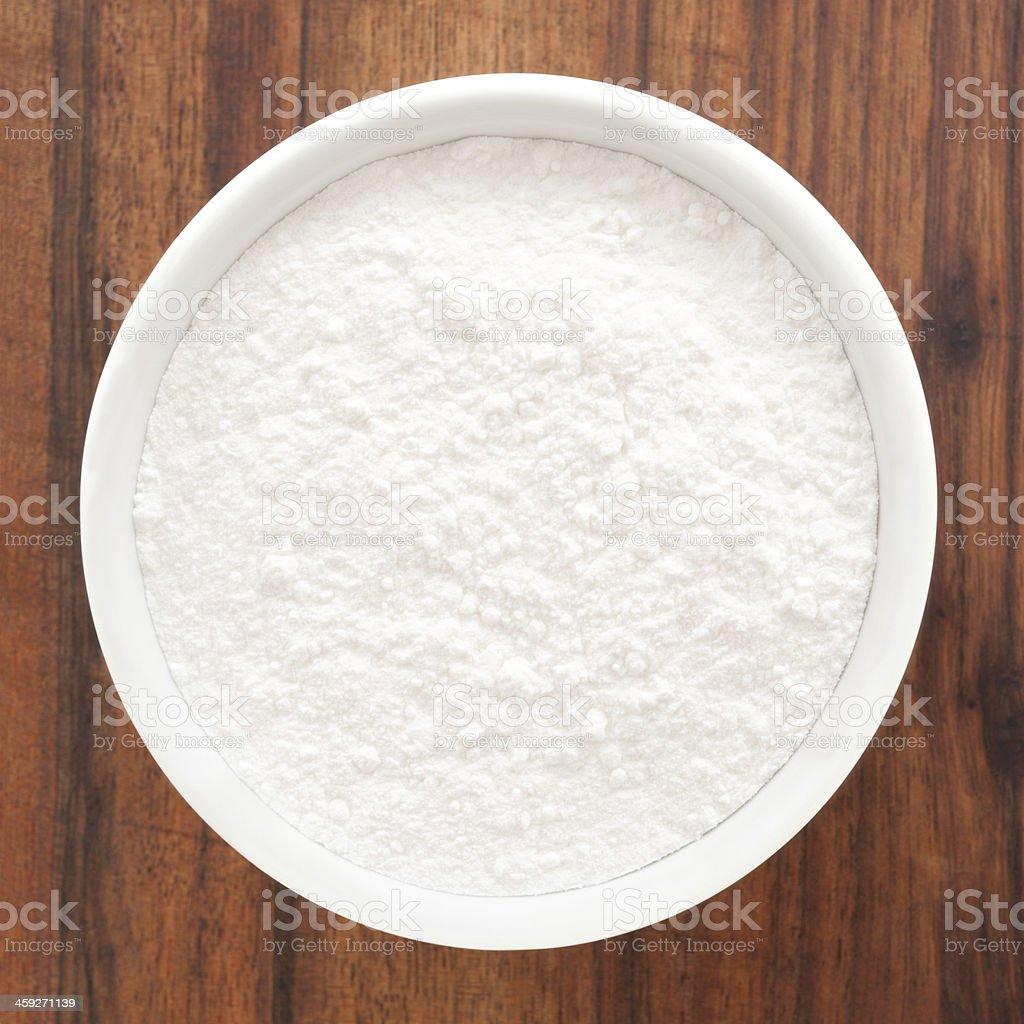 Powdered sugar stock photo