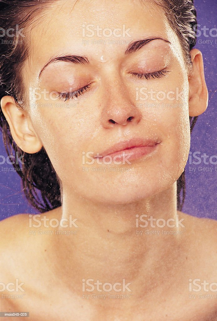 Powdering face royalty-free stock photo