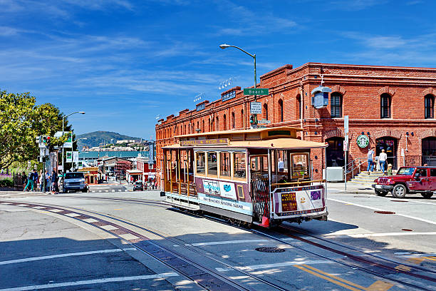 Powell Hyde cable car, San Francisco, United states - foto de stock