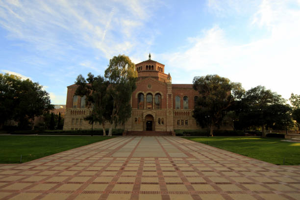 Powell Library at UCLA - University of California, Los Angeles Los Angeles, United States - December 23, 2011: Powell Library at UCLA - University of California, Los Angeles. royce lake stock pictures, royalty-free photos & images
