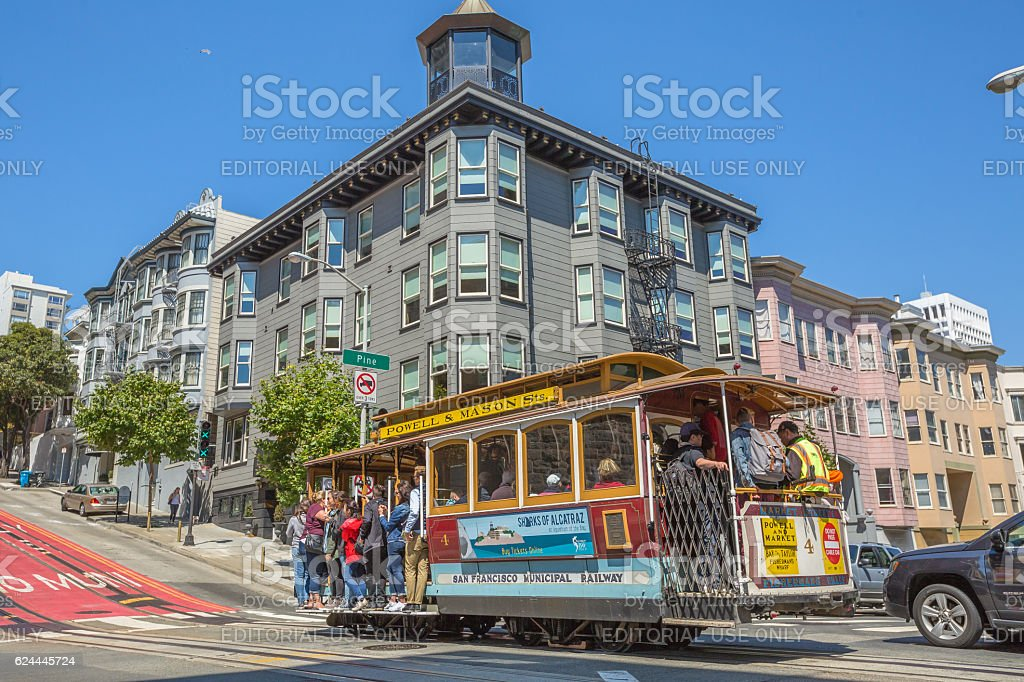Powell Manson lines Cable Car stock photo