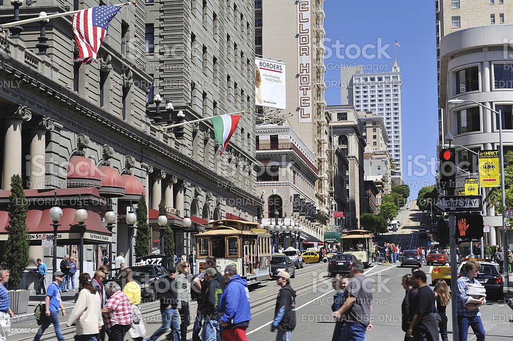 Powell Street in San Francisco stock photo