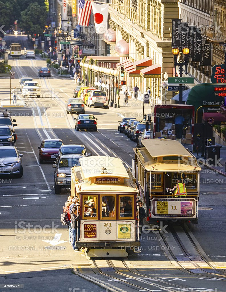 Powell Street, San Francisco, CA, USA royalty-free stock photo
