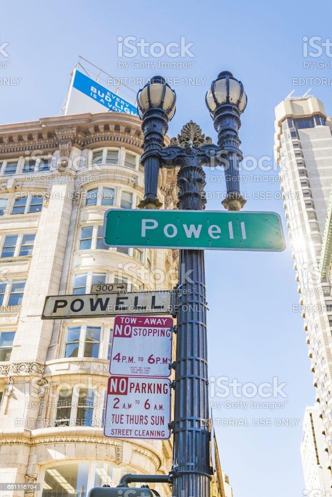 Powell Street San Francisco stock photo