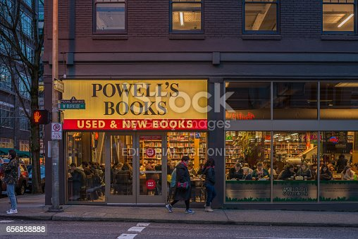 Editorial March 11, 2017 - Powell's book store in Portland, Oregon