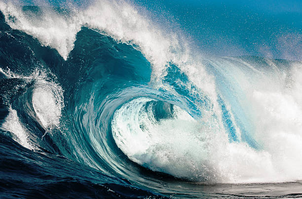 power and beauty - wave stock photos and pictures