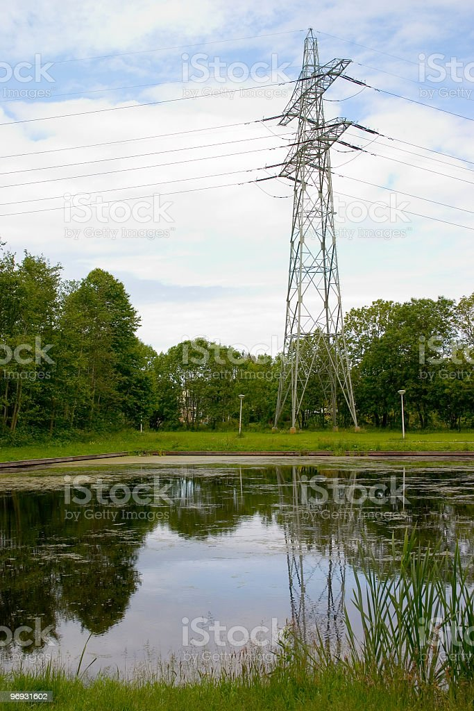 Power and pond royalty-free stock photo