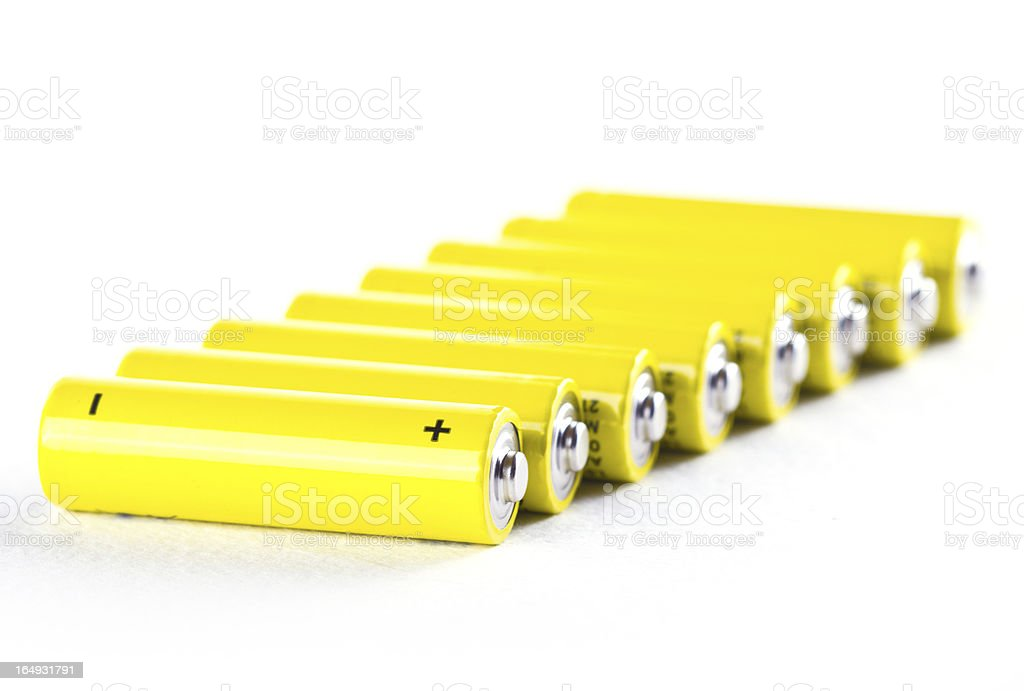 power batteries on white royalty-free stock photo