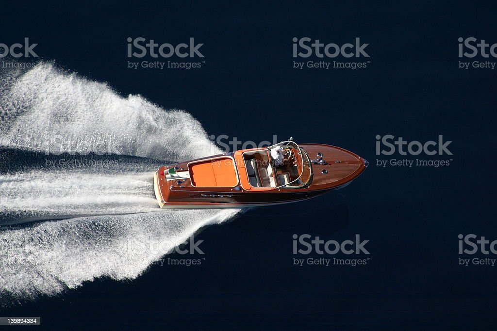 Power Boat Over Water royalty-free stock photo