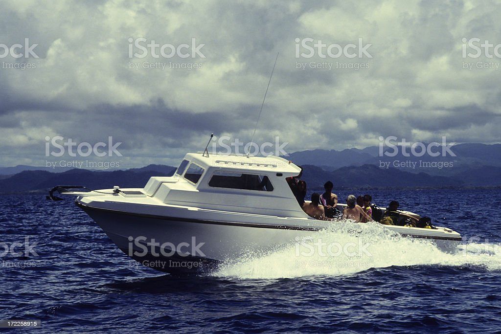 Power Boating royalty-free stock photo