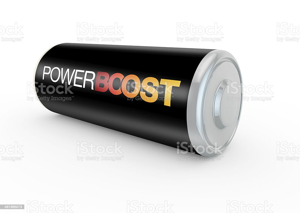 power boost on a battery royalty-free stock photo