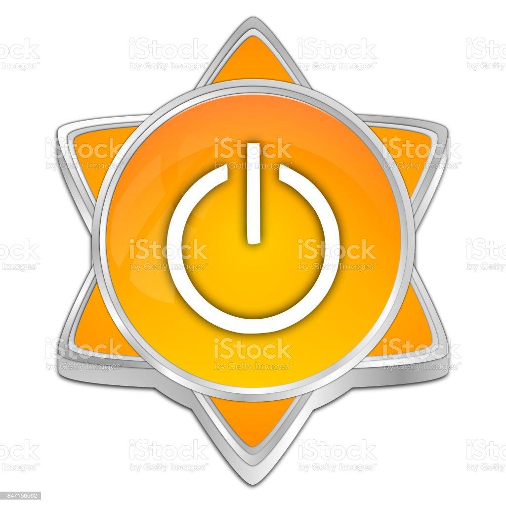Power Button - 3D illustration stock photo
