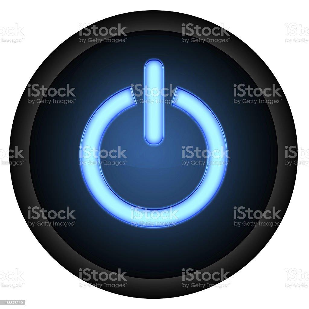 Power Button Blue stock photo