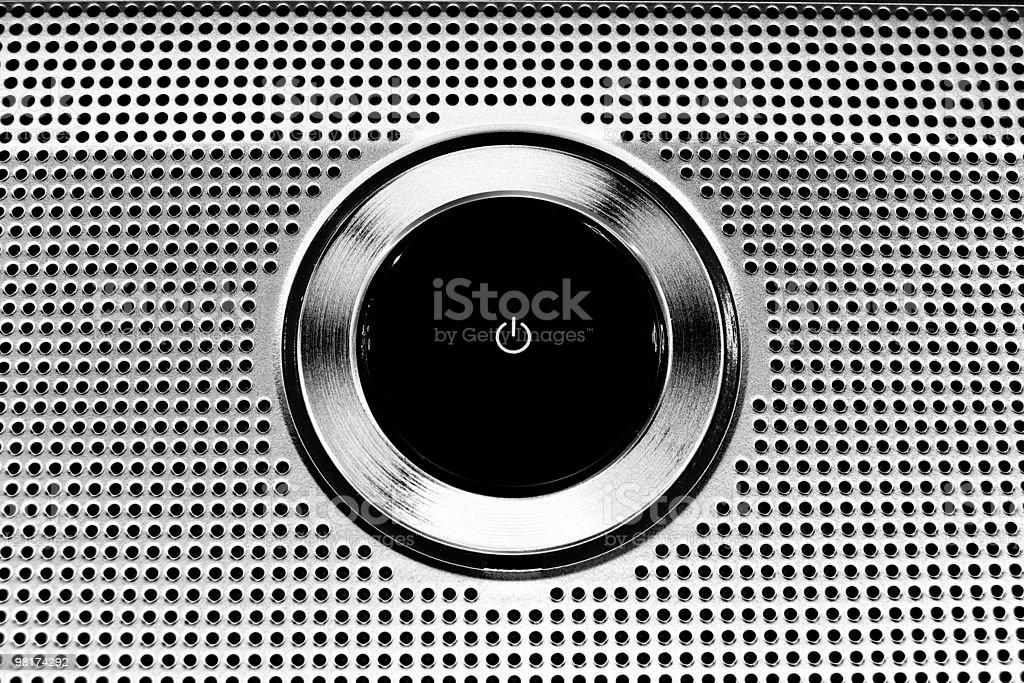 Power Button - Metallic royalty-free stock photo
