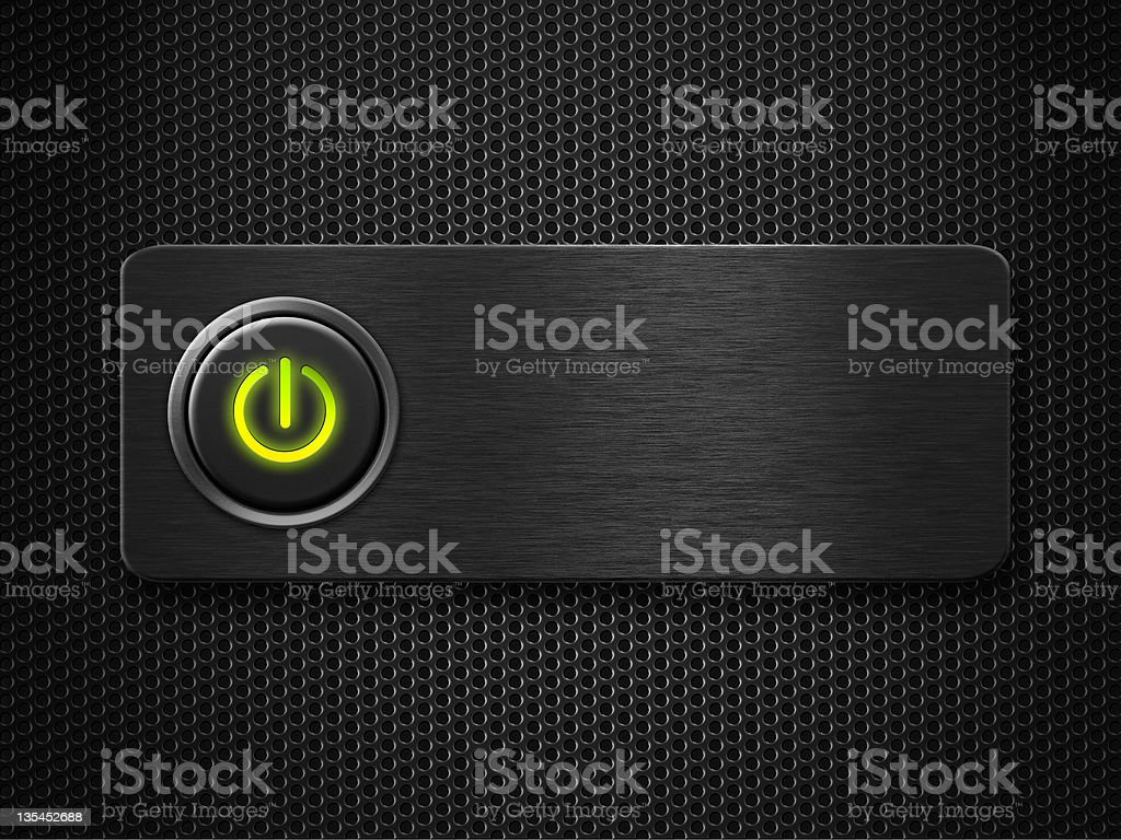 power button on royalty-free stock photo