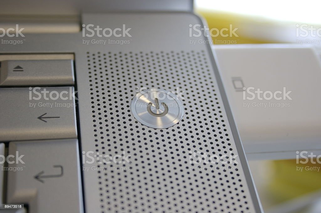 Power Button royalty-free stock photo