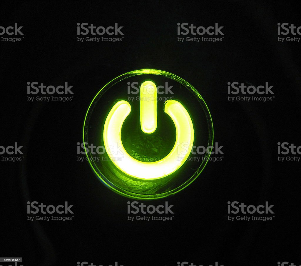 power button stock photo