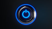 Power button with blue led lights