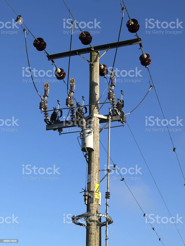 Power cables royalty-free stock photo