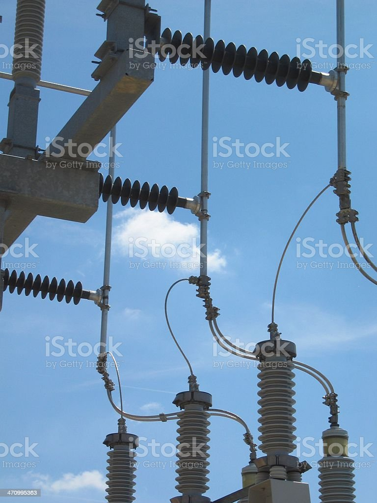 Power coils stock photo