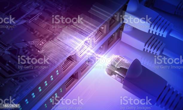 Power Connection With Connecting Cords Stock Photo - Download Image Now