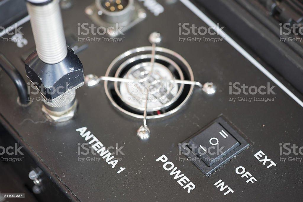 Power control switch. stock photo
