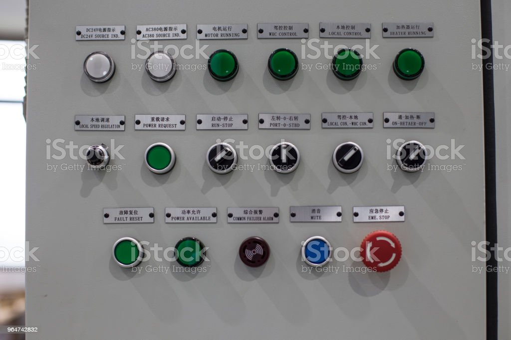 Power controller panel royalty-free stock photo