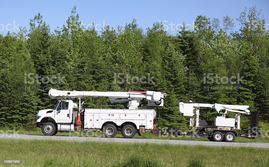 Power corperation truck royalty-free stock photo